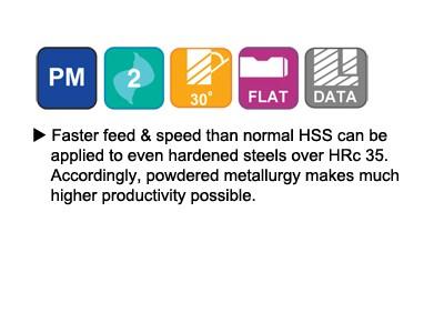 ASP30, 30 Degree Helix 2 FL. Regular Length End Mills-2