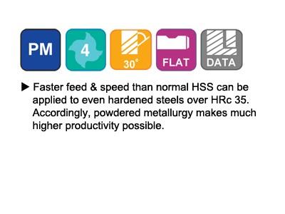 ASP30, 30 Degree Helix 4 FL. Regular Length End Mills-2