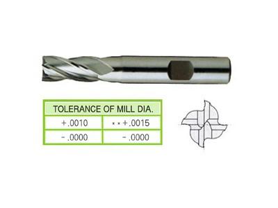 Cobalt 8%, 4 Flute End Mills-Regular Length(Center Cutting)-1