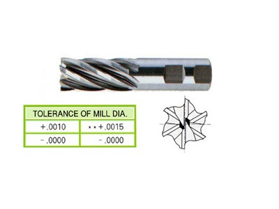 Cobalt 8%, 6 Flute End Mills-Regular Length(Center Cutting)-1