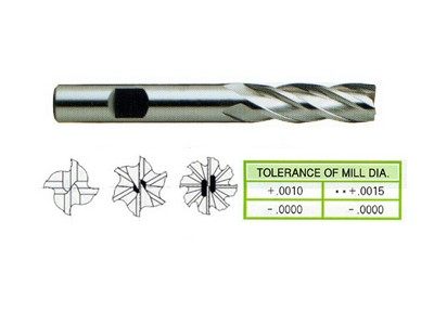 Cobalt 8%, Multi Flute End Mills-Medium Length(Center Cutting)-1