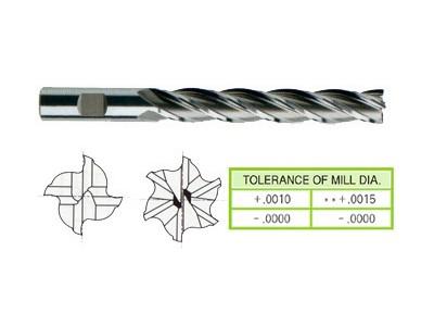 Cobalt 8%, 4&6 Flute End Mills-Extra Long Length(Center Cutting)-1