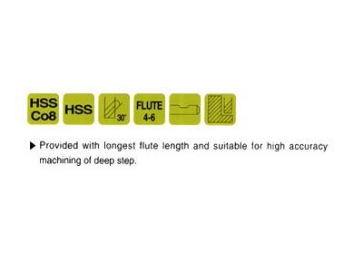 Cobalt 8%, 4&6 Flute End Mills-Extra Long Length(Center Cutting)-2