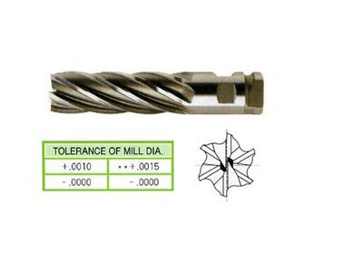 HSS, 4 Flute Double End Mills-Regular Length(Center Cutting)-1