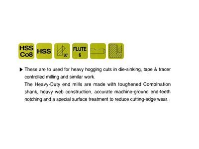 HSS, 4 Flute Double End Mills-Regular Length(Center Cutting)-2