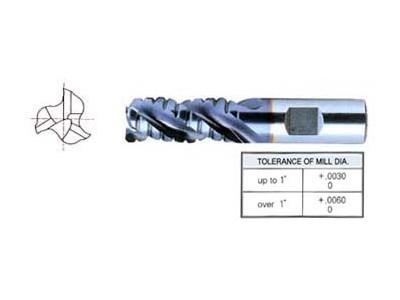 T15 3 Flute 42 Degree Helix, Regular, Medium Length, Roughing With Corner Radius-1