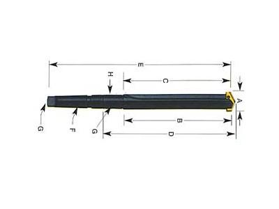 Taper Shank Straight Flute Standard Length