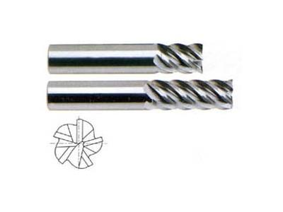 5 Flute 45 Degree Helix Stub / Standard Length-1