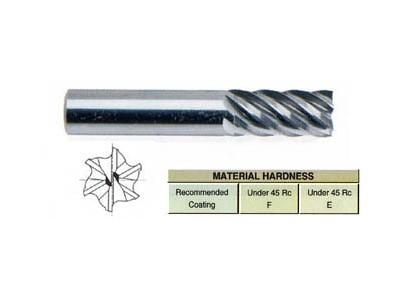 6 Flute 40 Degree Helix Regualr Length-1
