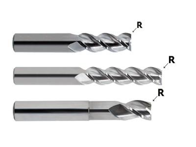 Carbide 3F 45 Degree Helix Aluminum .060 Corner Radius-1