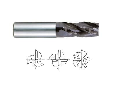 Carbide Multi Flute Long Length Roughing-1