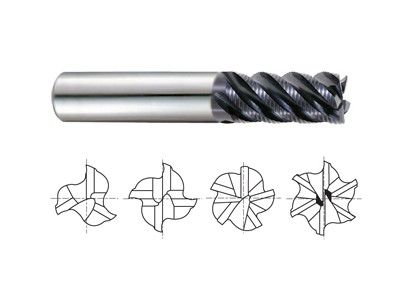 Carbide Multi Flute 45 Degree Helix Long Length Roughing-1