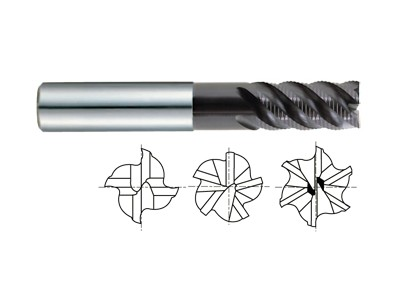 Carbide Multi Flute 45 Degree Helix Long Reach Roughing-1