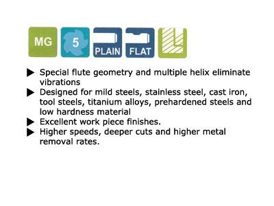 5 Flute V7 Inox Regular Length Carbide End Mill-2