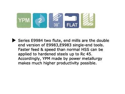 2 FLUTE REGULAR LENGTH DE POWDER METAL TANK-POWER-2