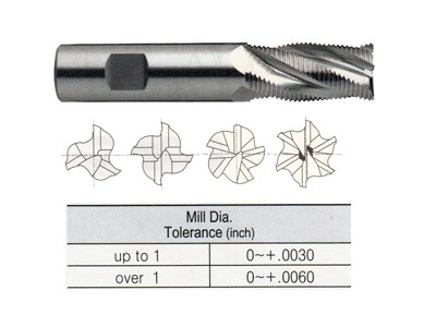Tank Power, Asp60 Roughing End Mills, Fine Pitch, Center Cutting-1