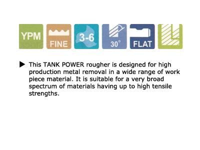 Tank Power, Roughing End Mills, Fine Pitch, Long Length-2