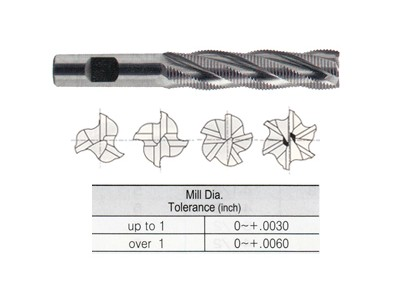 Tank Power, Roughing End Mills, Fine Pitch, Long Length-1