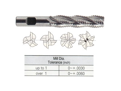 Tank Power, Roughing End Mills, Coarse Pitch, Long Length-1