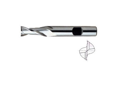 HSS, 2 Flute End Mills-Regular Length-1