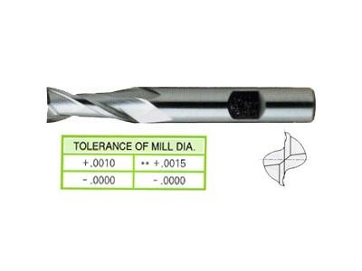 Cobalt 8%, 2 Flute End Mills-Long Length-1