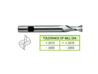 HSS, 2 Flute End Mills-Extended Length-1