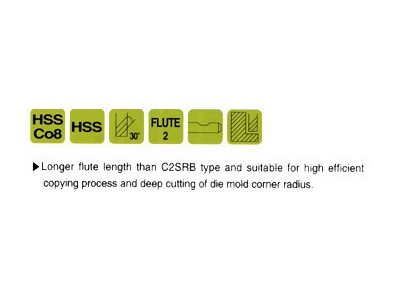 Cobalt 8%, 2 Flute Ball Nose End Mills-Extended Length-2