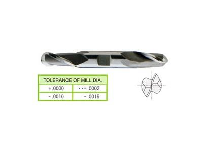 Cobalt 8%, 2 Flute Double Ball Nose End Mills-Regular Length-1
