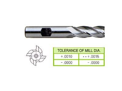 Cobalt 8%, 4 Flute End Mills-Regular Length-1