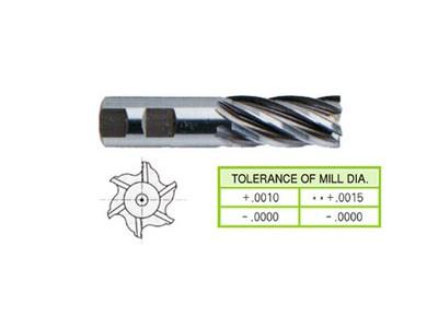 Cobalt 8%, 6 Flute End Mills-Regular Length-1