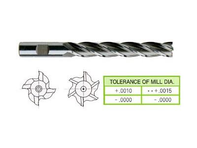 Cobalt 8%, 4&6 Flute End Mills-Extra Long Length-1