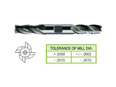 Cobalt 8%, 4 Flute Double End Mills-Regular Length-1