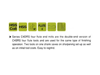 Cobalt 8%, 4 Flute Double End Mills-Regular Length-2